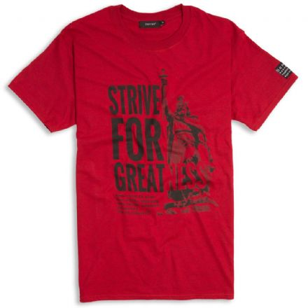 Strive For Greatness T-Shirt  - Antique Red